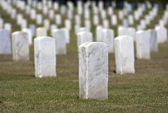 Tombstones. A row of marble tombstones at a military cemetery Royalty Free Stock Photos