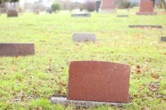 Tombstones Royalty Free Stock Photography