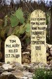 Tombstones Arkivfoton