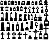 Tombstones Stock Illustrationer