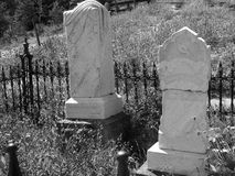 Tombstones in Black and White Royalty Free Stock Photos