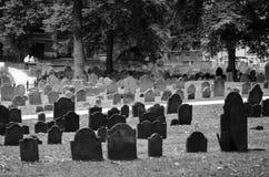 Tombstones in Boston, Black&White royalty free stock photos