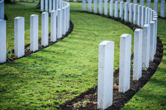 Tombstones in British War Cemetery in Normandy,France Stock Photos