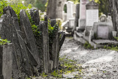Tombstones. In the cemetery of Sighisoara Medieval Fortress Stock Photography