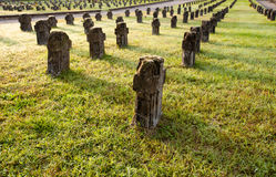 Tombstones in Crespi dAdda Royalty Free Stock Images