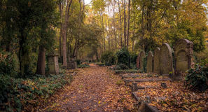 Tombstones of Highgate Cemetery, London Royalty Free Stock Image