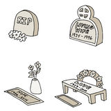 Tombstones. An image of different tombstones Royalty Free Stock Image