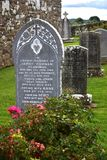 A cemetery on Holy Island in Lough Derg in Ireland royalty free stock photography