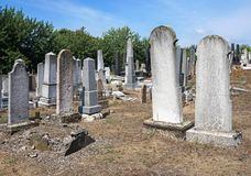 Tombstones in the jewish cemetery. B royalty free stock photos