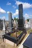 Tombstones in the jewish cemetery. G royalty free stock images