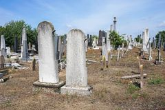 Tombstones in the jewish cemetery. G stock photography