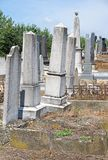 Tombstones in the jewish cemetery. N royalty free stock photo