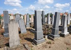 Tombstones in the jewish cemetery. N royalty free stock photography