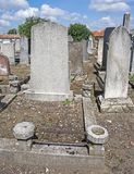 Tombstones in the jewish cemetery. In summer royalty free stock photos