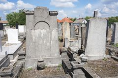 Tombstones in the jewish cemetery Royalty Free Stock Photos