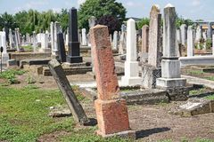 Tombstones in the jewish cemetery. V stock photos
