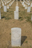 Tombstones in Little Bighorn Battlefield National Memorial: Tombstones Royalty Free Stock Image