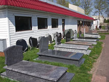 Tombstones manufacture Stock Photos