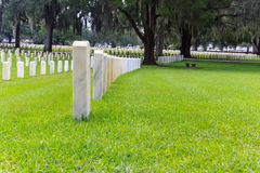Tombstones on a military cemetery Stock Photography
