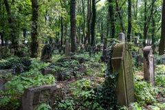 Tombstones in the New Jewish Cemetery in Miodowa Street, Kazimierz, Krakow, Poland.