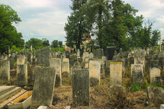 Tombstones in the Old Jewish Cemetery Royalty Free Stock Image