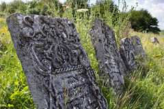 Tombstones in Old Jewish Cemetery Stock Photos