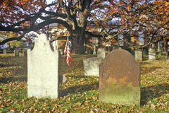 Tombstones in Presbyterian Church yard, Basking Ridge, NJ Stock Image