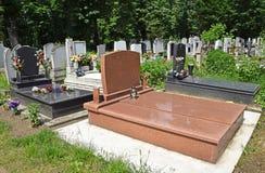 Tombstones. In the public cemetery Stock Photos