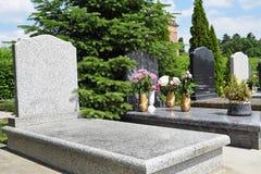 Tombstones. In the public cemetery Stock Photo