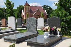 Tombstones in the public cemetery Stock Photos