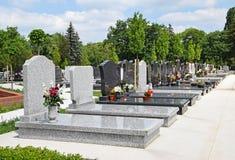 Tombstones in the public cemetery Stock Photo