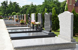 Tombstones in the public cemetery Stock Image