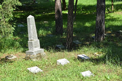 Tombstones in the public cemetery Royalty Free Stock Photos