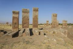 Tombstones of seljuks in Ahlat turkey Stock Photo