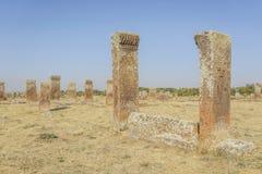 Tombstones of seljuks in Ahlat turkey Stock Photos