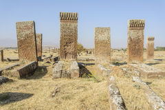 Tombstones of seljuks in Ahlat turkey Royalty Free Stock Images