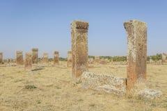 Tombstones of seljuks in Ahlat turkey Stock Images
