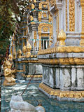 Tombstones at temple in Cambodia Stock Photo