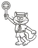 Tomcat, conductor,coloring Stock Images