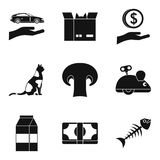 Tomcat icons set, simple style Royalty Free Stock Photo