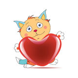 Tomcat in love Royalty Free Stock Images