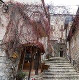 Tome ao centro da vila, Villetta Barrea, Abruzzo, AIE Fotografia de Stock Royalty Free