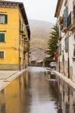 Tome ao centro da vila, Villetta Barrea, Abruzzo, AIE Foto de Stock Royalty Free