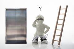 Tome as escadas ou o elevador ao sucesso? imagem de stock