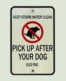 Tome después de su perro Imagen de archivo