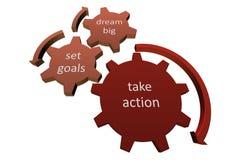 Tome el concepto de la acción, palabras conceptuales en blanco stock de ilustración