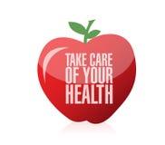 Tome el cuidado de su diseño del ejemplo de la salud Imagen de archivo libre de regalías
