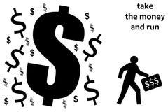 Tome el dinero Fotografía de archivo