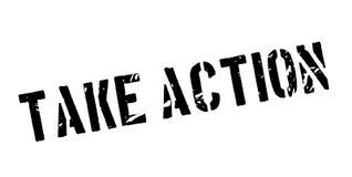 Tome el sello de goma de la acción Fotos de archivo libres de regalías