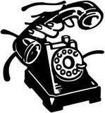 Tome el teléfono stock de ilustración